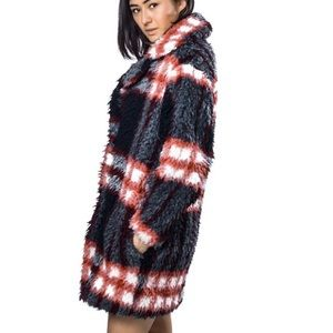 Sandro plaid coat SPECTACULAR